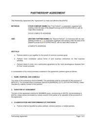 This partnership agreement (the agreement) is made and entered on this day day of month, of year, by and between party 1, on section i: Limited Partnership Agreement Template By Business In A Box
