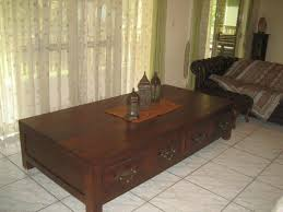 large balinese solid wooden coffee table