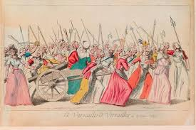 the french revolution history extra print of the market women s to versailles a large group of women carry axes
