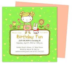 Kids Birthday Party Invitation Templates Perfect For A Little Girls