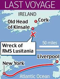 「The Lusitania sank within 20 minutes.」の画像検索結果