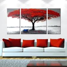 wall arts wall art in red framed red tree oil painting on canvas black white on diy wall art reddit with wall arts wall art in red featured image of red canvas wall art