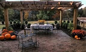 brick patio ideas. Clay Brick, Brown Brick Patio, Running Bond Landscape Aesthetics Bernardsville, NJ Patio Ideas