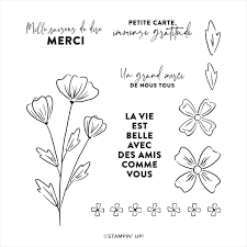 This is mille mercis ! by corinne doucet on vimeo, the home for high quality videos and the people who love them. Stampin Up Mille Mercis Fleuris Cling Stamp Set French