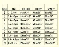 Kids Cloth Size Chart 14 Unusual Size Chart For Childrens Clothing