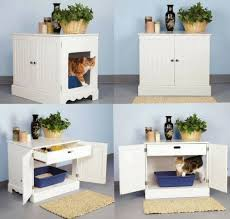 Decorative Cat Litter Box Covers Pet Studio Litter Box Cabinet for Pets Newport White Pet Studio 37