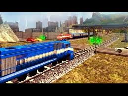 train racing games 3d 2 player railway station train simulator bambi tv android gameplay fhd