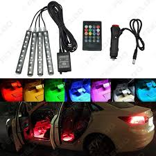 Automotive Led Light Controller Car Interior Rgb Led Strip Light Voice Controller Atmosphere Lamp Foot Decorative Light With 24 Key Remote Controller