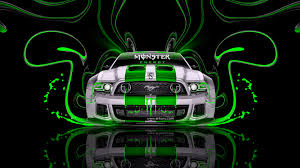 monster energy ford mustang gt plastic car