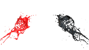 Red And Black Paint Splashes Collide In Slow Motion, Isolated On White  (FULL HD) Stock Footage Video 4018507 | Shutterstock