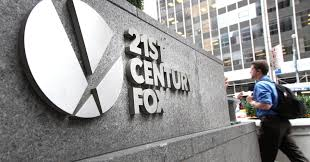 a sign outside the 21st century fox headquarters in new york