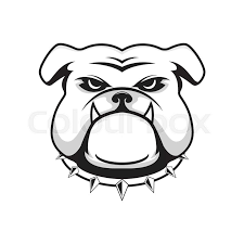 friendly bulldog mascot clipart.  Mascot Vector Illustration Head Ferocious Bulldog Mascot On A White Background   Stock Colourbox Throughout Friendly Bulldog Mascot Clipart A