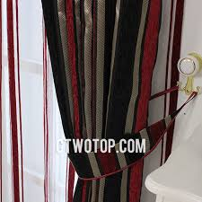 charming black and red curtains and half faux silk black and red striped curtains