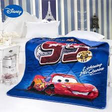 Lightning McQueen Cars Printed Comforter Disney Cartoon Character ... & Lightning McQueen Cars Printed Comforter Disney Cartoon Character Bedding  Cotton Cover boys Quilt Single Twin Full Adamdwight.com