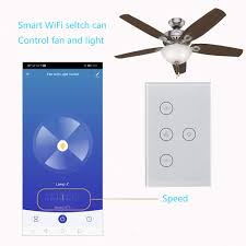 Wifi Ceiling Fan And Light Switch Smart Wifi Fan Light Switch Pcjhsp Wireless In Wall Ceiling Fan Lamp Switch Touch Control App Remote Control Timer Function Voice Control Compatible