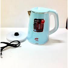 Ấm điện 2 lớp giữ nhiệt tốt - Bình siêu tốc loại to 25L công suất 1800W đun  sôi cực nhanh tự động ngắt khi nước sôi có đèn báo an toàn -