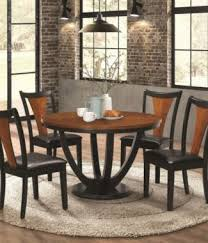 round dining table set two tone