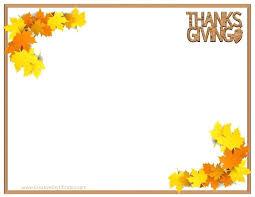 Printable Thanksgiving Letterheads Free Borders Cute Crafts Border