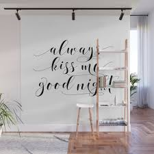 printable art always kiss me goodnight