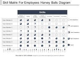 Skill Chart Skill Matrix For Employees Harvey Balls Diagram Ppt