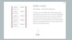 Numbered Raffle Ticket Template Word Lovely Tickets Free 7 8 Blank