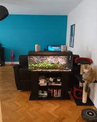 fish tank stand and room separator