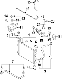 parts com® hyundai fitting water outlet partnumber 256113c100 2008 hyundai azera gls v6 3 3 liter gas radiator components