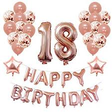 Yoart 18th <b>Birthday</b> Decorations Rose <b>Gold</b> for <b>Women</b> and Girl ...