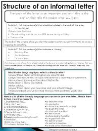 Informal Letter Writing Pack  This unit is a collection of lesson materials to help support