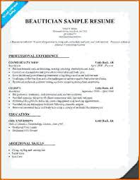 Cosmetologist Resume Template Amazing Cosmetology Resume Templates Cosmetology Resume Samples Resume Waa
