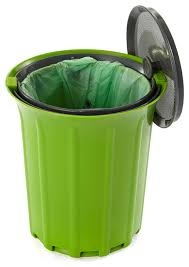 breeze odor free countertop compost collector green slate contemporary compost bins by full circle home llc