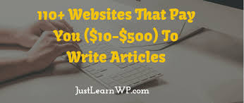 ultimate list of websites that pay you to write online  110 websites that pay you 10 500 to write articles reviews