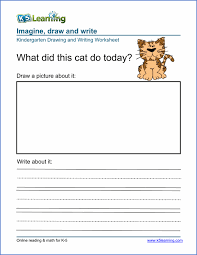 Kindergarten Writing Pages Reading And Writing Worksheets For Kindergarten The Best Worksheets