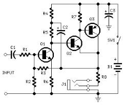 circuit zone com electronic projects electronic schematics diy portable headphone amplifier