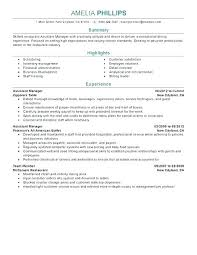 Assistant Manager Resume Sample Resume Samples For Assistant Manager