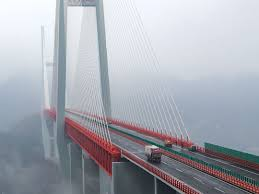 the world s highest bridge opens for traffic this picture taken on dec 29 2016 shows vehicles