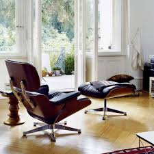 Eames Chair With Ottoman Vitra Lounge Chair Ottoman Cherry Wood