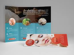 make tri fold brochure like the muted background image and circular inset images in