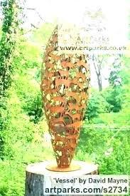 beautiful modern garden sculpture outdoor metal in desire for of sculptures