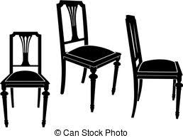 chairs clipart black and white. Delighful Chairs Chair  The Same Chair In Three Different Sights In Chairs Clipart Black And White P
