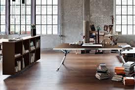 home office work table. Home Office Work Table Contemporary Wooden Varnished Wood Steel Revo M