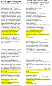 polygamy the ces letter a closer look  twice brigham young emphasized that a person must have the privilege to practice plural marriage or there was no expectation to practice polygamy