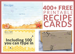card recipe 400 free printable recipe cards