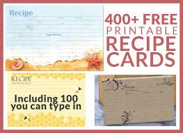 400 Free Printable Recipe Cards