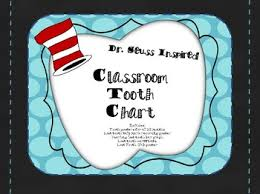 Dr Seuss Inspired Classroom Tooth Chart