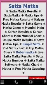 Satta Matka Mumbai Chart 2019 Guessing Chart Satta Matka