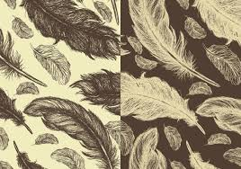 feather patterns seamless hand drawn feather pattern pack free photoshop brushes at