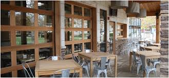 glass garage doors restaurant. Our Custom Wood Garage Doors Appear To Swing, Fold, Or Slide Open. But, They Are Overhead That Roll Up Easily Into Your With Glass Restaurant