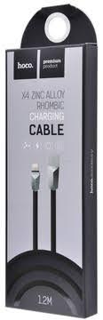 Зарядное устройство <b>Hoco</b> X4 <b>Zinc Alloy</b> Rhombic Lightning Cable ...