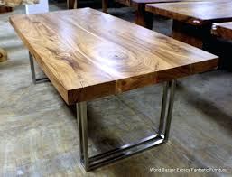 wood table with metal legs dining room gorgeous and exotic plank acacia wood dining table with wood table with metal legs dining